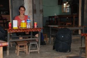 Awaiting bus to Mandalay